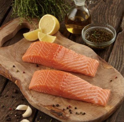 Salmon Filets   Approx 25 x 6oz  - Individually Cryo Vacc'd