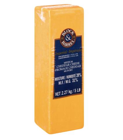 Cheese - Medium Cheddar 2.27 Kg/Block