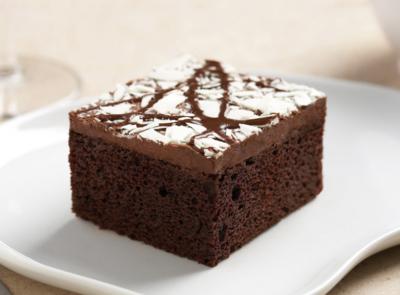 Triple Chocolate Fudge Cake - One Tray