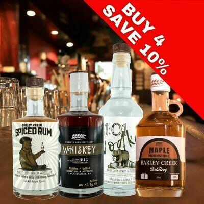 4 Bottles of BCBC Spirits