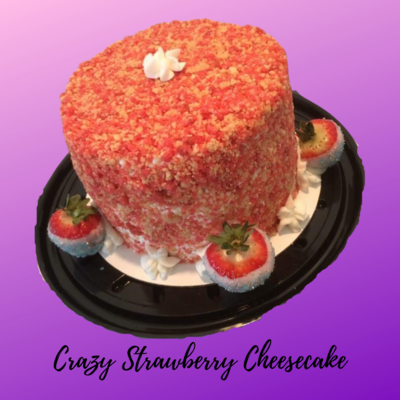Crazy Strawberry Cheesecake 8in