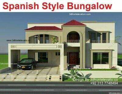 Spanish House Plans   Pakistani House Designs