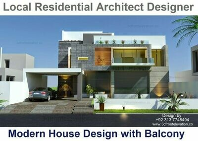 Balcony House Design | Look Best Architects in Lahore