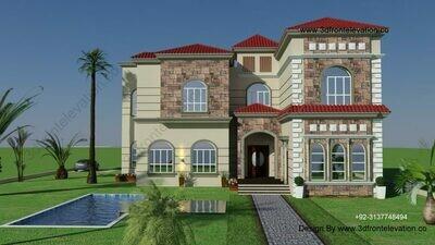 Luxuries Spanish villa created By Best Floor Plan Designer