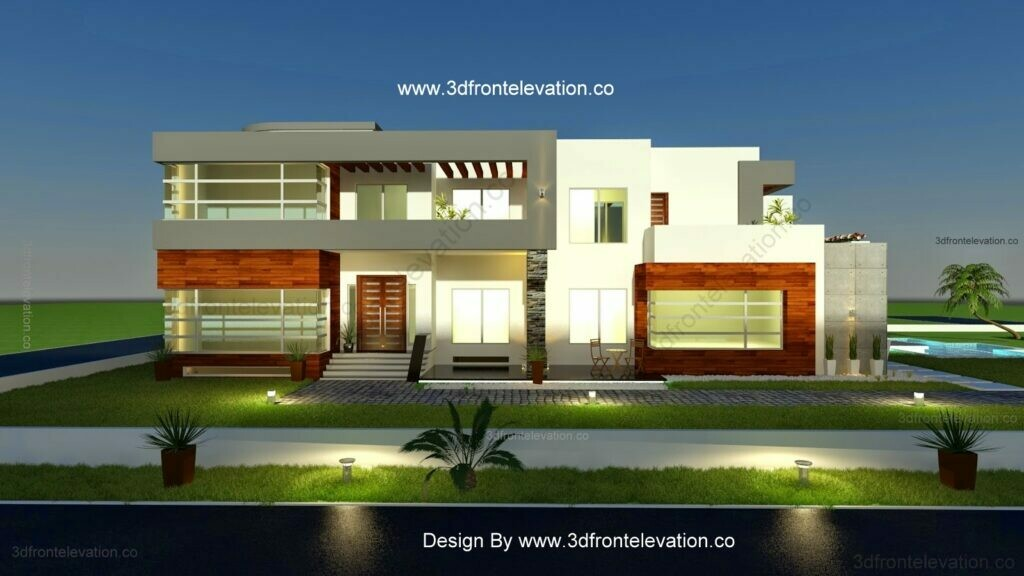 Modern House Design with 6 Bedroom House Plan with Pool