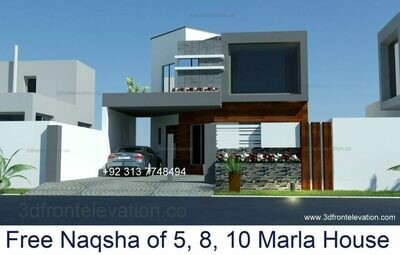 Small House Elevation Design | 3DFront Elevation