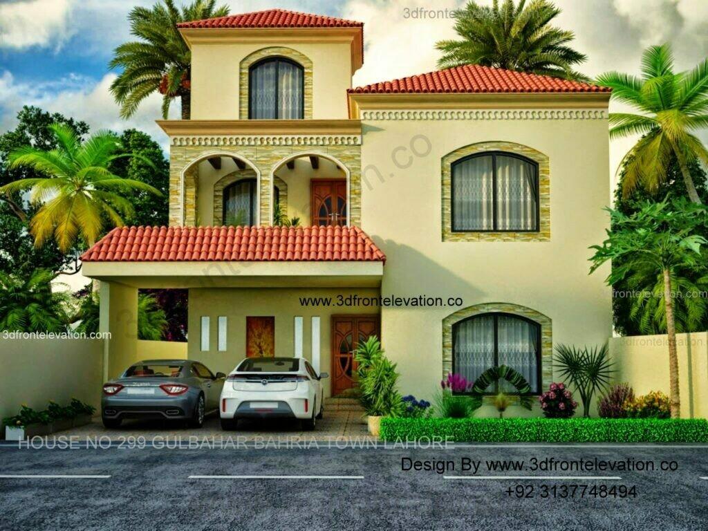 10 Marla House Design in Pakistan  | Spanish Villa