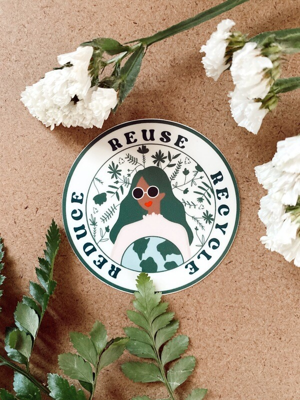 'Reduce, Reuse, Recycle' sticker