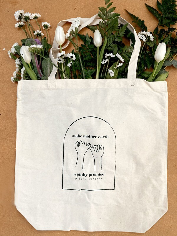 'Please Recycle' outline tote