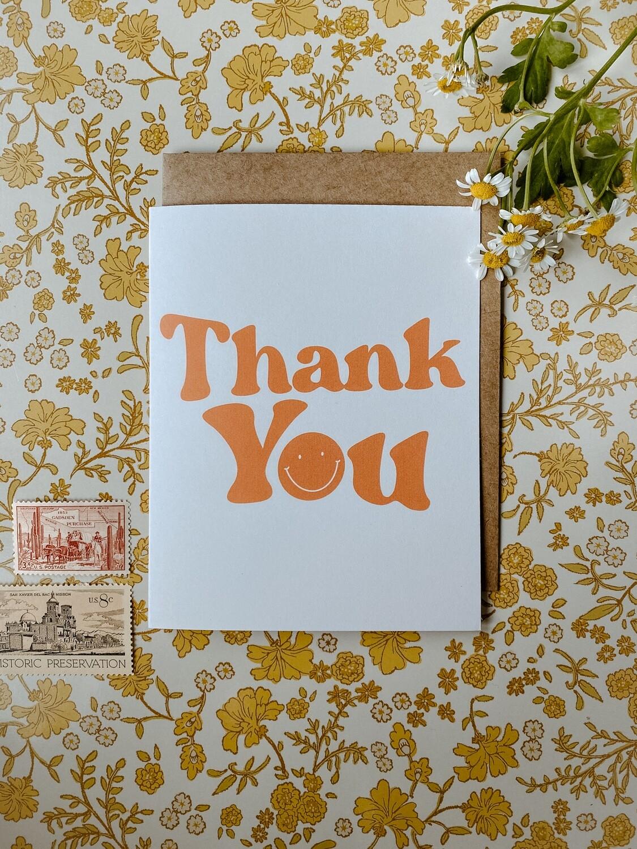 'Thank You smiley' card