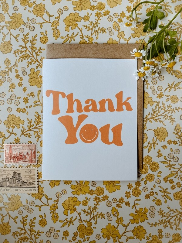'Thank You smiley' card