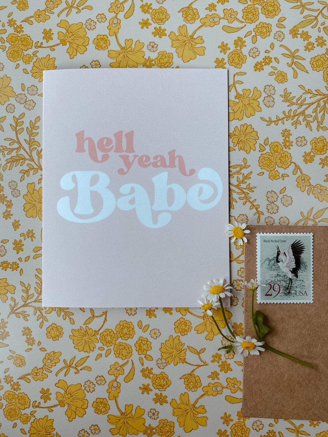 'Hell Yeah Babe' card