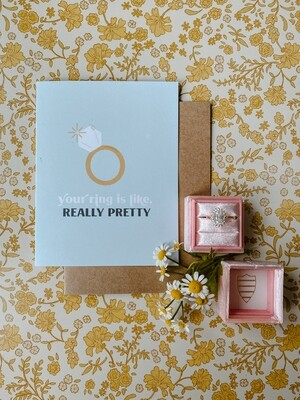 'Your ring is like, really pretty' card