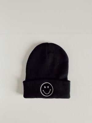 NE Smiley Beanie - Black