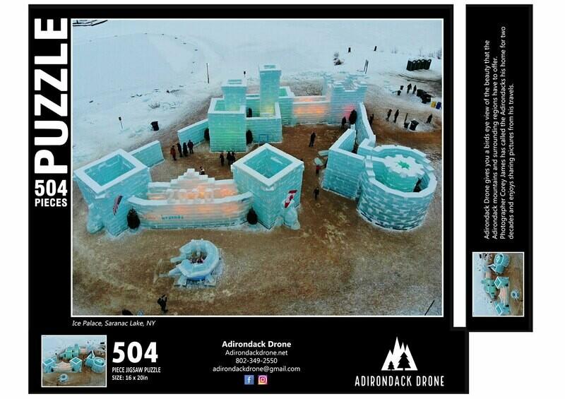 Saranac Lake Ice Palace Puzzle - 504 Pieces