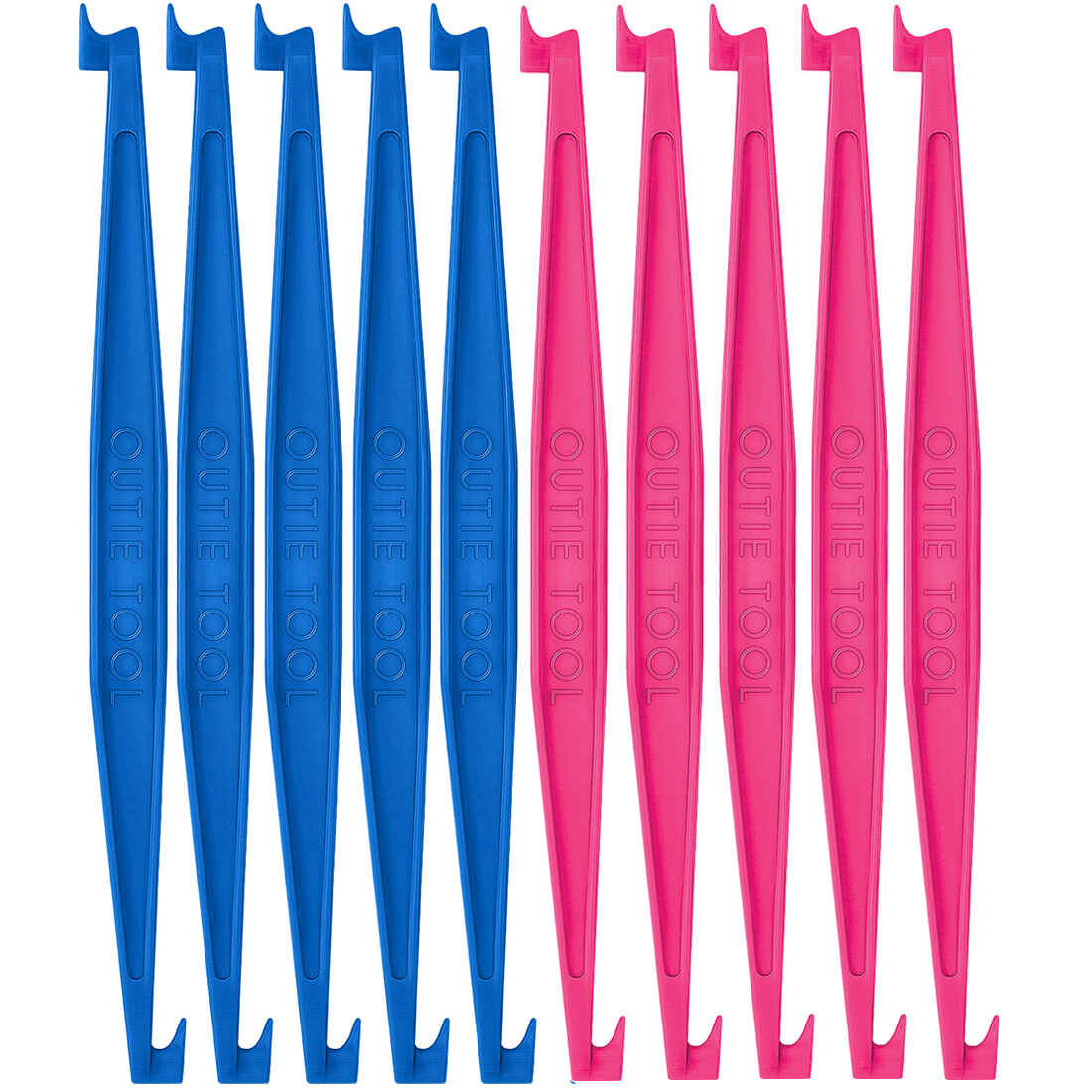 60 OUTIE TOOLS - 30 Hot Pink, 30 Sky Blue Bulk UNPACKAGED