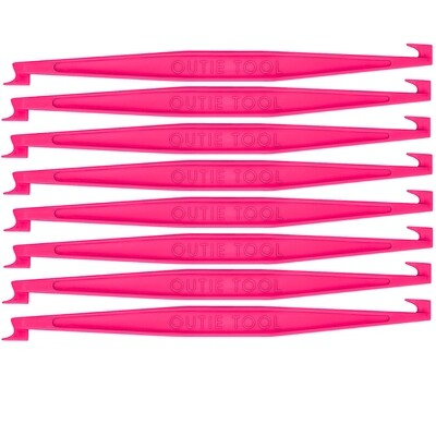 7 INDIVIDUALLY WRAPPED OUTIE TOOLS - 60 HOT PINK