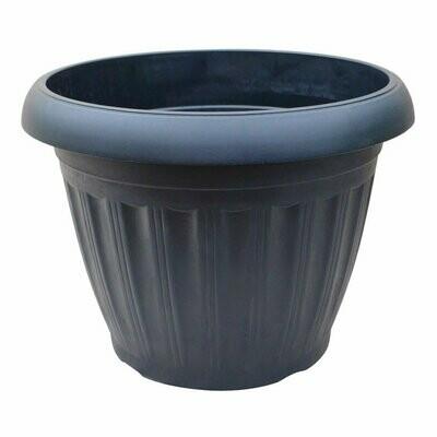 Onda Plastic Pot - Black