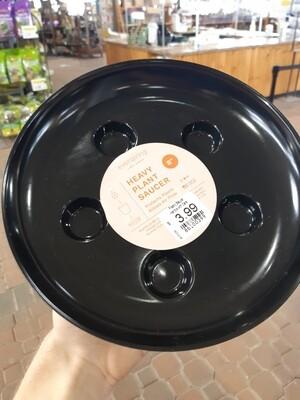 Heavy Duty Plastic Saucer - Black