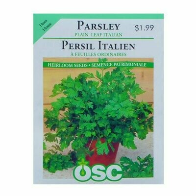 Parsley Plain Leaf Italian Seed Package