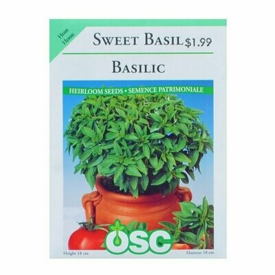 Sweet Basil Seed Package