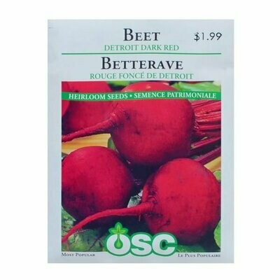 Beet Detroit Dark Red Seed Package