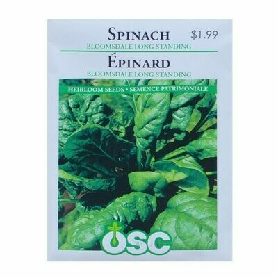 Spinach Bloomsdale Long Standing Seed Package