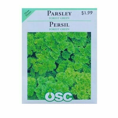 Parsley Forest Green Seed Package
