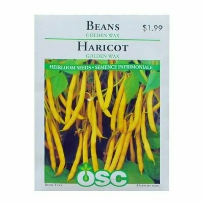Beans Golden Wax Seed Package