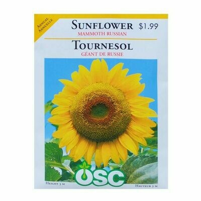 Sunflower Mammoth Russian Seed Package