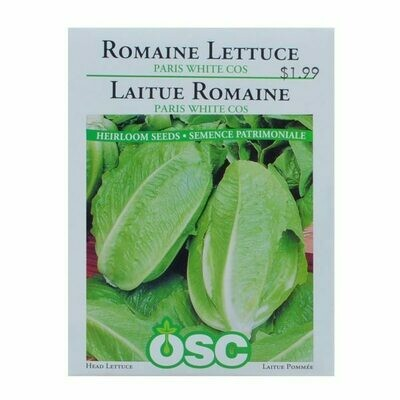 Romaine Lettuce Paris White Seed Package