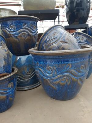 Vine Pot - Imperial Blue