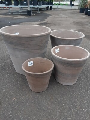 Italian Clay Pot - Graphite
