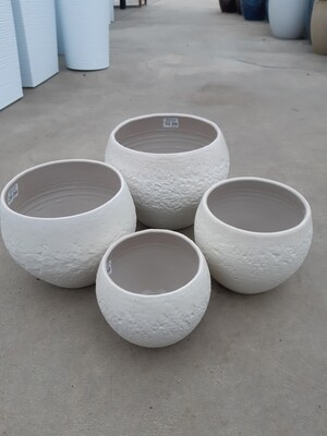 Cream Stone Pot Cover