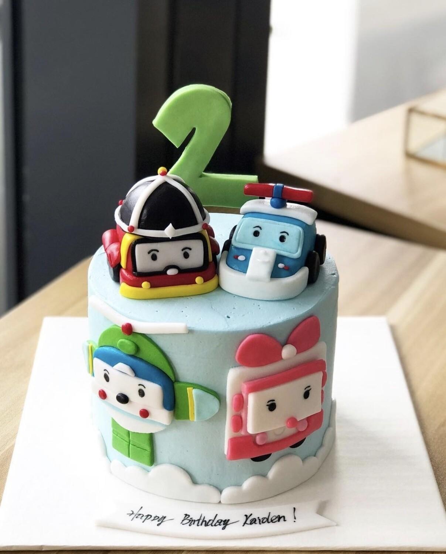 Car Cake - Robocar Poli
