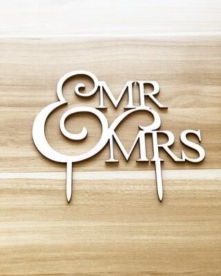 Mr. & Mrs. (Wood-Times Font)