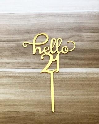 Topper - Hello 21 (Gold)