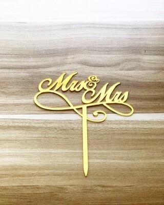 Topper - Mr & Mrs (Gold)