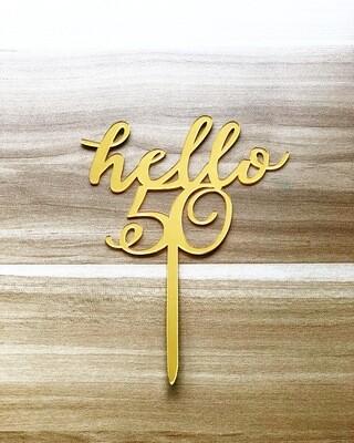 Topper - Hello 50 (Gold)