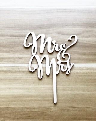 Mr. & Mrs. (Wood-Italic Font)