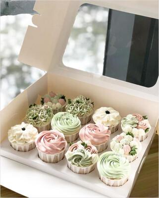 Pastel Buttercream Cupcakes