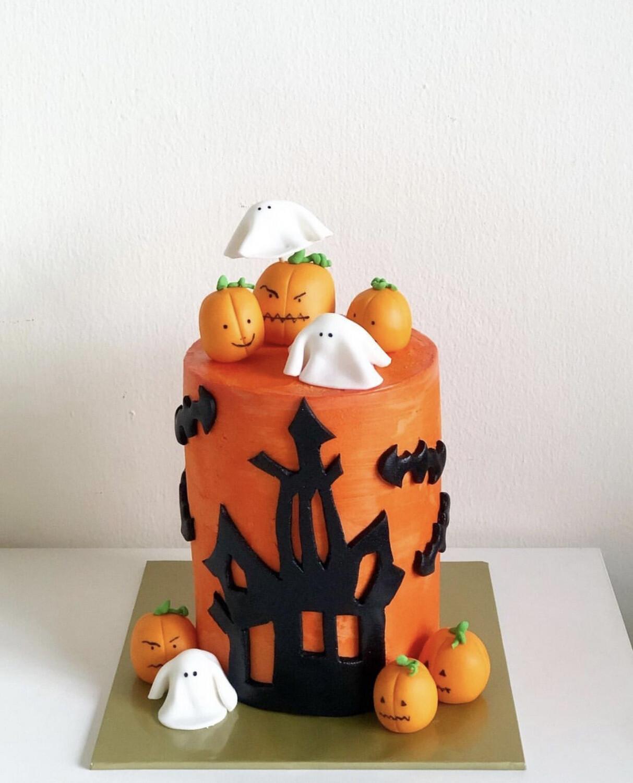 Halloween / Prank Cake - Pumpkin Shadow Castle