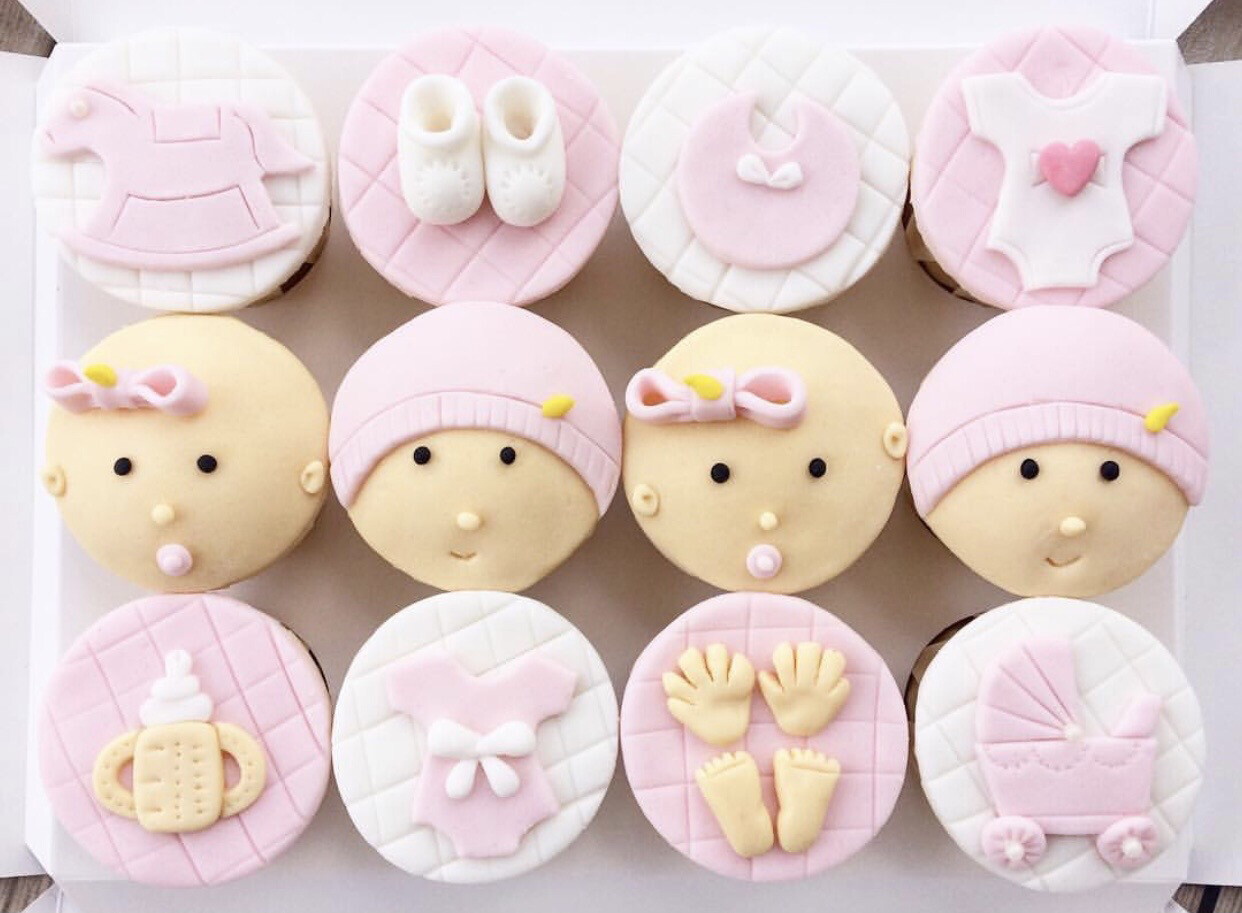 Baby Fullmoon Newborn Girl Boy Cupcakes 1