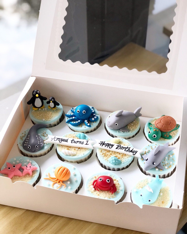 Animal Ocean Sea Cupcakes