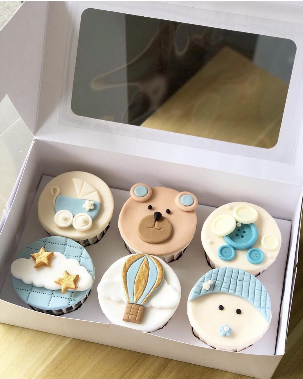 Fullmoon Newborn Baby Girl Boy Cupcakes 3