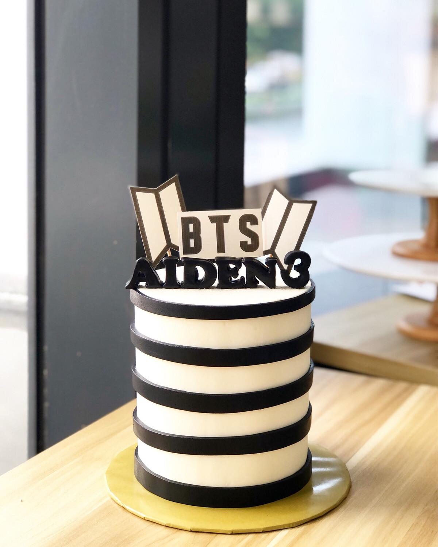 BTS Cake 3 Minimalist
