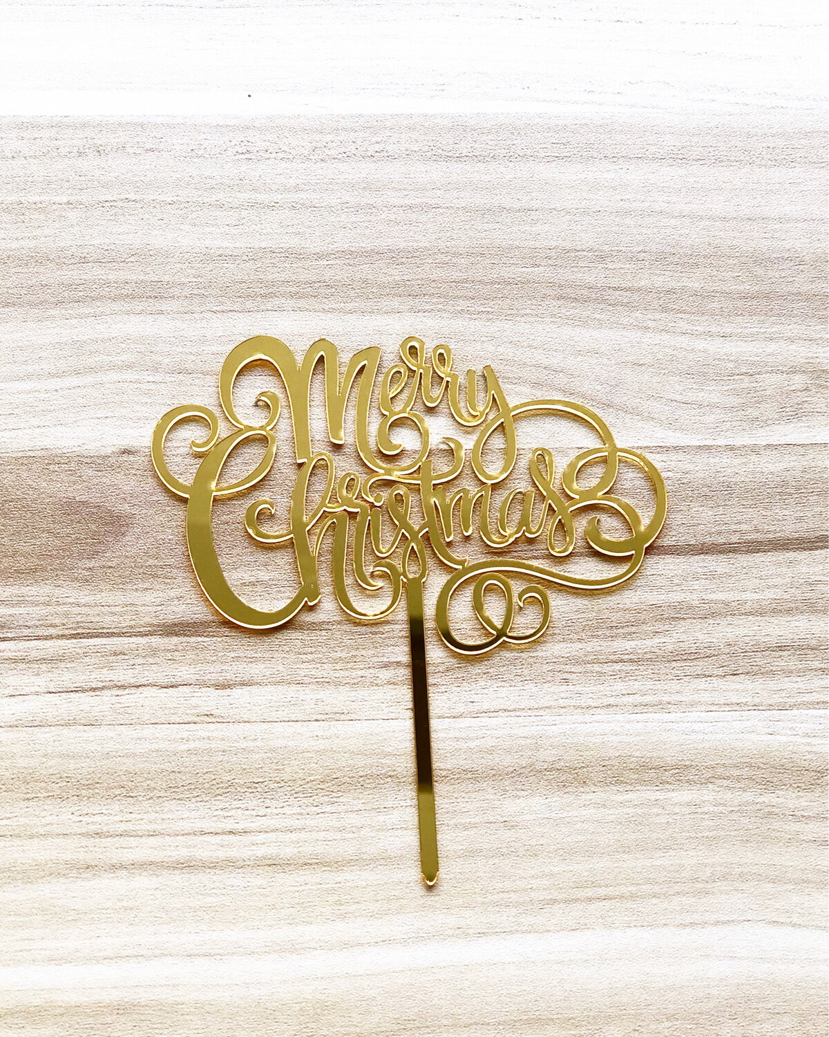 Topper - Merry Christmas (Gold)
