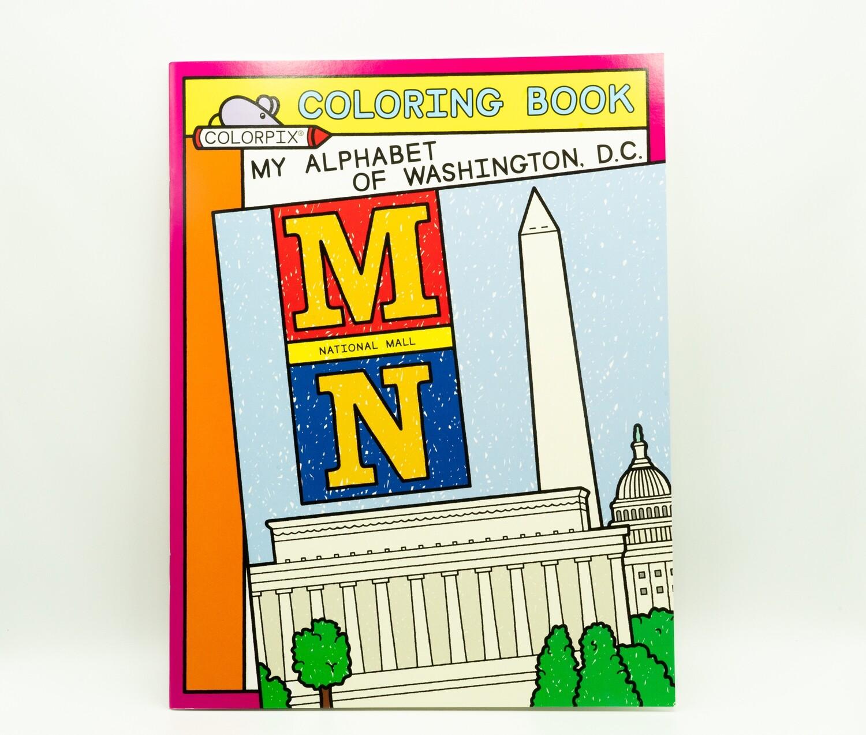 ABC's of Washington DC, Coloring Book