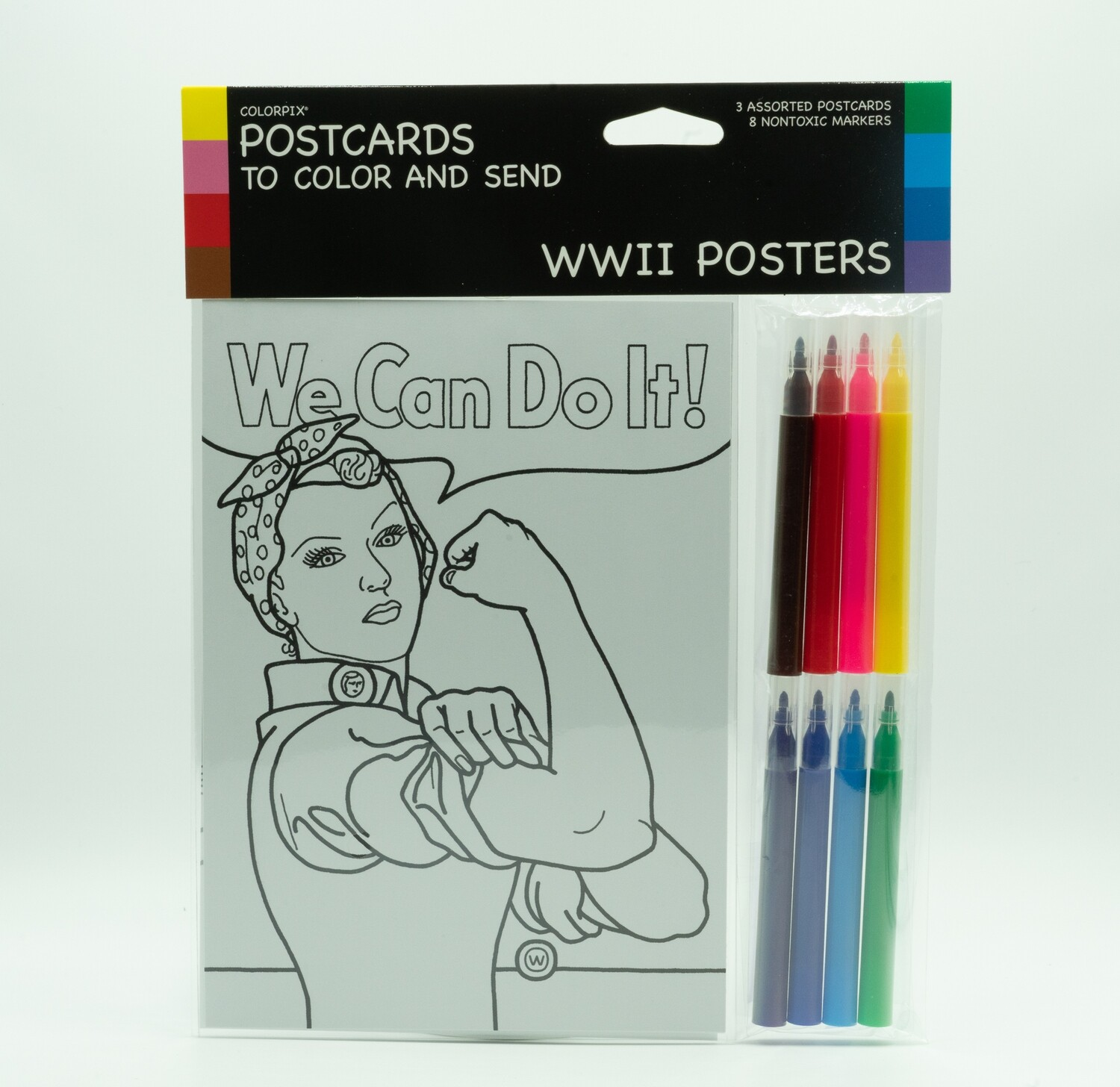 Postcards of WWII With Markers