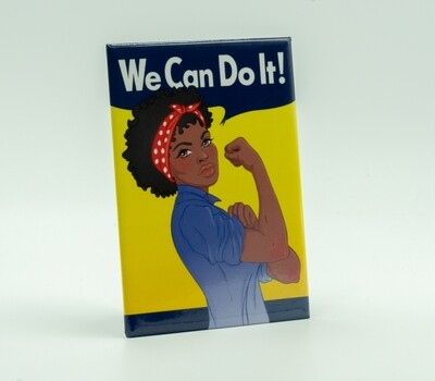 African American Rosie 'We Can Do It' Magnet